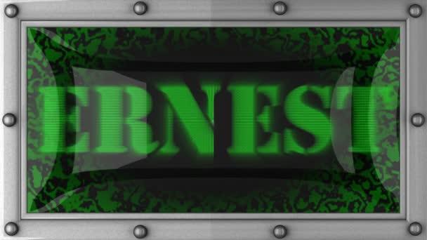 Ernest en led — Vídeo de stock
