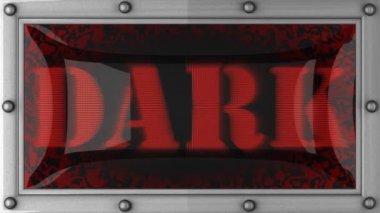 Dark on led — Stock Video