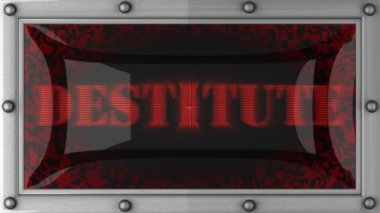 Destitute on led — Stock Video