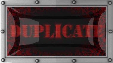 Duplicato sul condotto — Video Stock