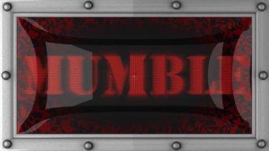 Mumble on led — Video Stock