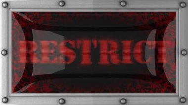 Restrict on led — Stock Video