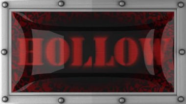 Hollow on led — Wideo stockowe