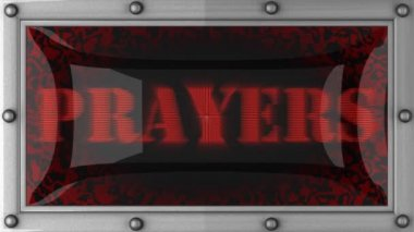 Prayers on led — Stockvideo