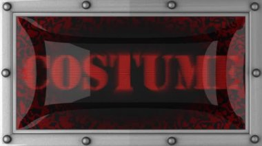 Costume on led — Stok video
