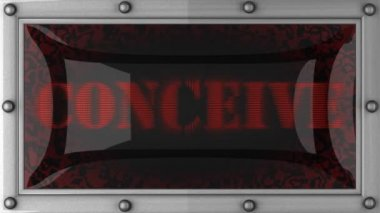 Conceive on led — Video Stock