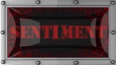 Sentiment on led — Wideo stockowe