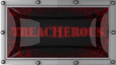 Treacherous on led — Stock Video