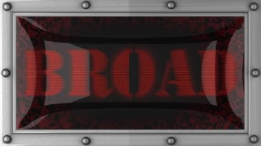 Broad on led — Vídeo Stock