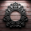 Retro frame on wooden wall — Stock Photo