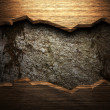 Wood on the wall — Stock Photo