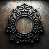 Retro frame on concrete wall — Stock Photo