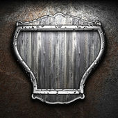 Shield on tha wall — Stock Photo