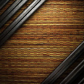 Metall på vägg — Stockfoto