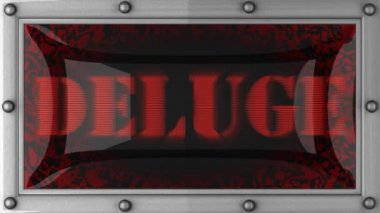 Deluge on led — Stock Video