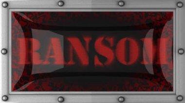 Ransom on led — Stock Video