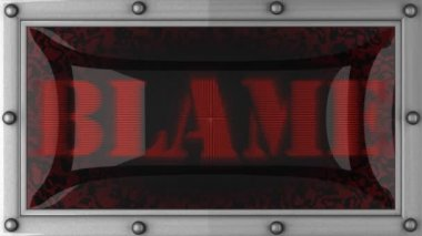 Blame on led — Vídeo Stock