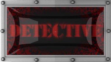 Detektyw na led — Wideo stockowe