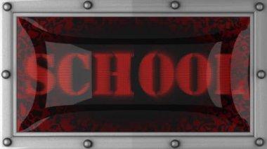 School on led — Stock Video