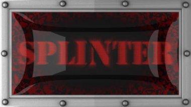 Splinter on led — Stock Video