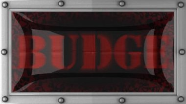Budge on led — Stok video