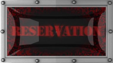 Reservation on led — 图库视频影像