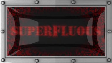 Superfluous on led — Stock Video