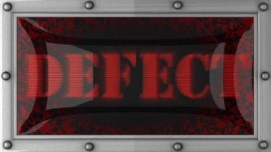 Defect on led — Wideo stockowe