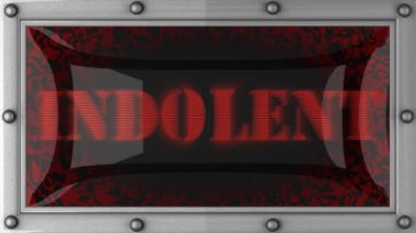 Indolent on led — Stock Video