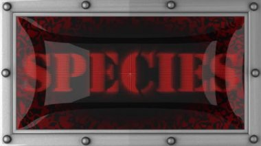 Species on led — Vídeo Stock