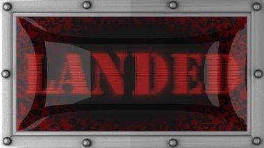 Landed on led — Stock Video
