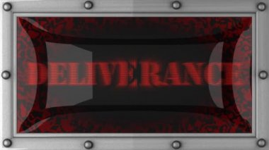 Deliverance on led — Stock Video