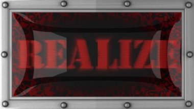 Realize on led — Stock Video