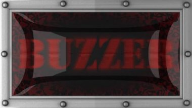 Buzzer on led — Stockvideo