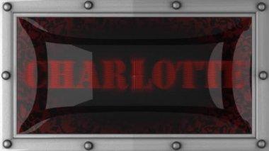 Charlotte op geleid — Stockvideo