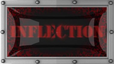 Inflection on led — Stock Video