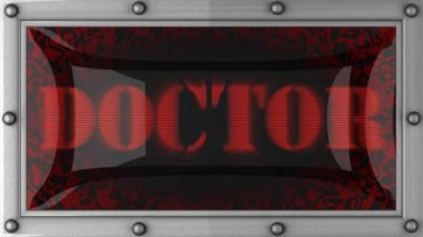 Doctor on led — Stock Video
