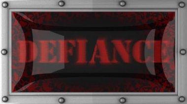Defiance auf geführt — Stockvideo