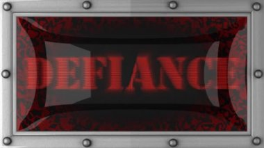 Defiance on led — Stok video