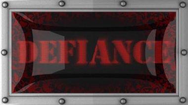 Defiance på ledde — Stockvideo