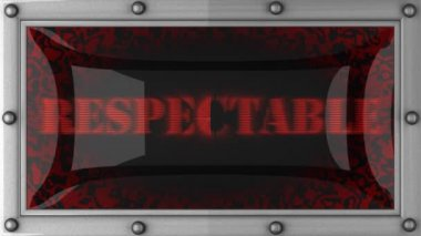 Respectable on led — Stok video