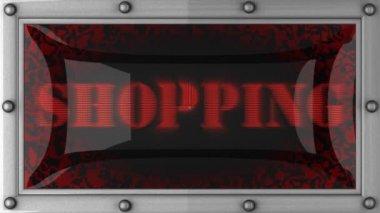 Winkelen op geleid — Stockvideo