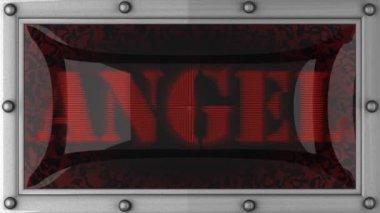 Angel on led — Stock Video