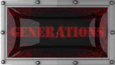 Generations on led — 图库视频影像