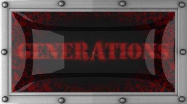 Gerações em led — Vídeo Stock