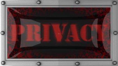 上のプライバシーを導いた — ストックビデオ