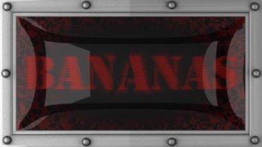 Banane sul condotto — Video Stock