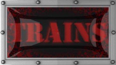 Los trenes en led — Vídeo de stock
