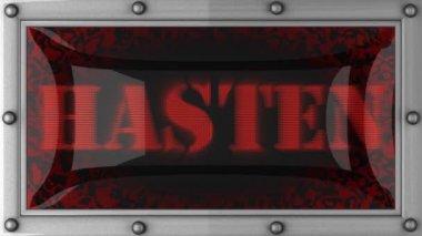 Hasten on led — Stock Video
