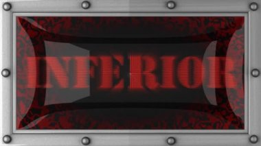 Inferior on led — Stock Video